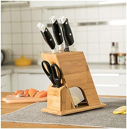 WZHZJ Bambú Portacuchillas Nan bambú Cuchillo for Vegetales Portacuchillas Cocina Multifuncional Rack de Suministros de Cocina Estante del Cuchillo de Almacenamiento