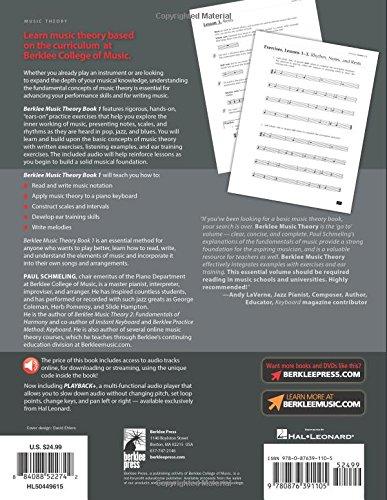 Berklee Music Theory Book 1 Paul Schmeling 9780876391105 Books