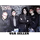 My Chemical Romance black bkgrnd horiz POSTER 34 x 23.5 (sent FROM USA in PVC pipe)