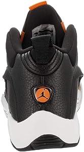 b8bb28b5e74ae Nike Men's Jumpman Quick 23 Black/Black/Orange Peel/Sail Basketball Shoe  10.5 Men US