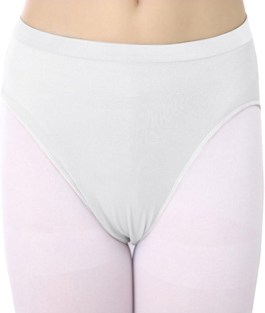 Skyrocket 3 Pack Girls Ladies Ballet Dance Briefs Seamless Pants Knickers Nude and White