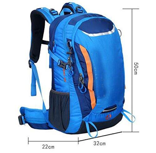 El Deporte Del Alpinismo De Gran Capacidad Libre Del Bolso De Viaje Resistente Al Agua Multifuncional,Green Blue