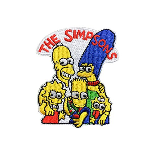 (The Simpsons Patch Embroidered Cartoon Iron On Sew On Patches)