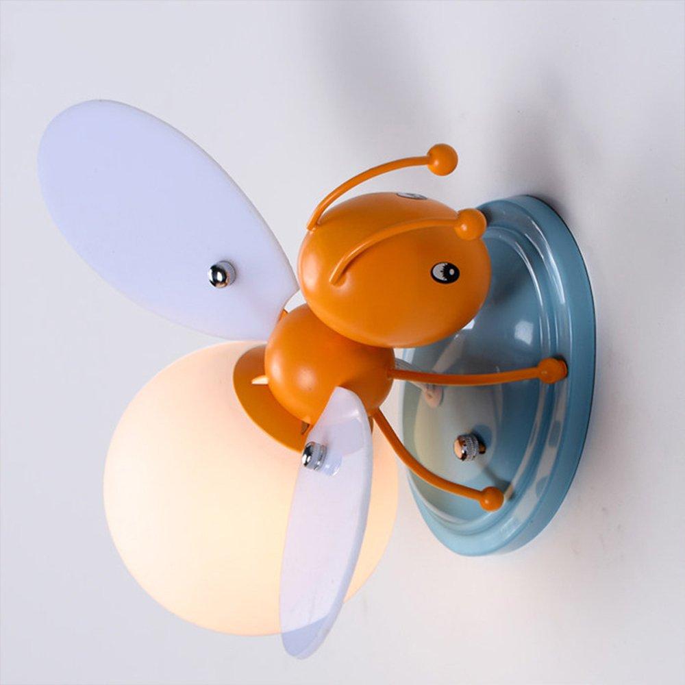 Lithx Muro sconce Cartoon ape animale bambino camera di ferro da parete lampada creativa E27 1-luce parete Plafoniera per bambini Cameretta Kindergarten camera da letto Cafe