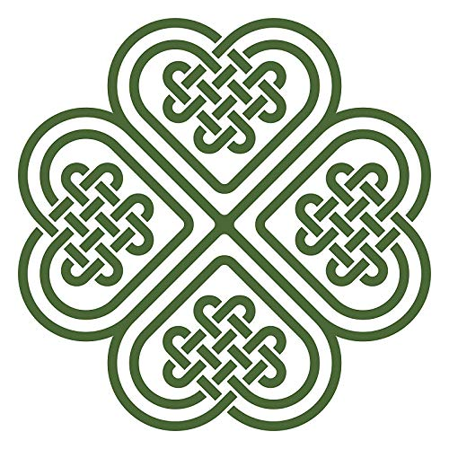 EW Designs Celtic Knot Four Leaf Clover Vinyl Decal Bumper Sticker (4
