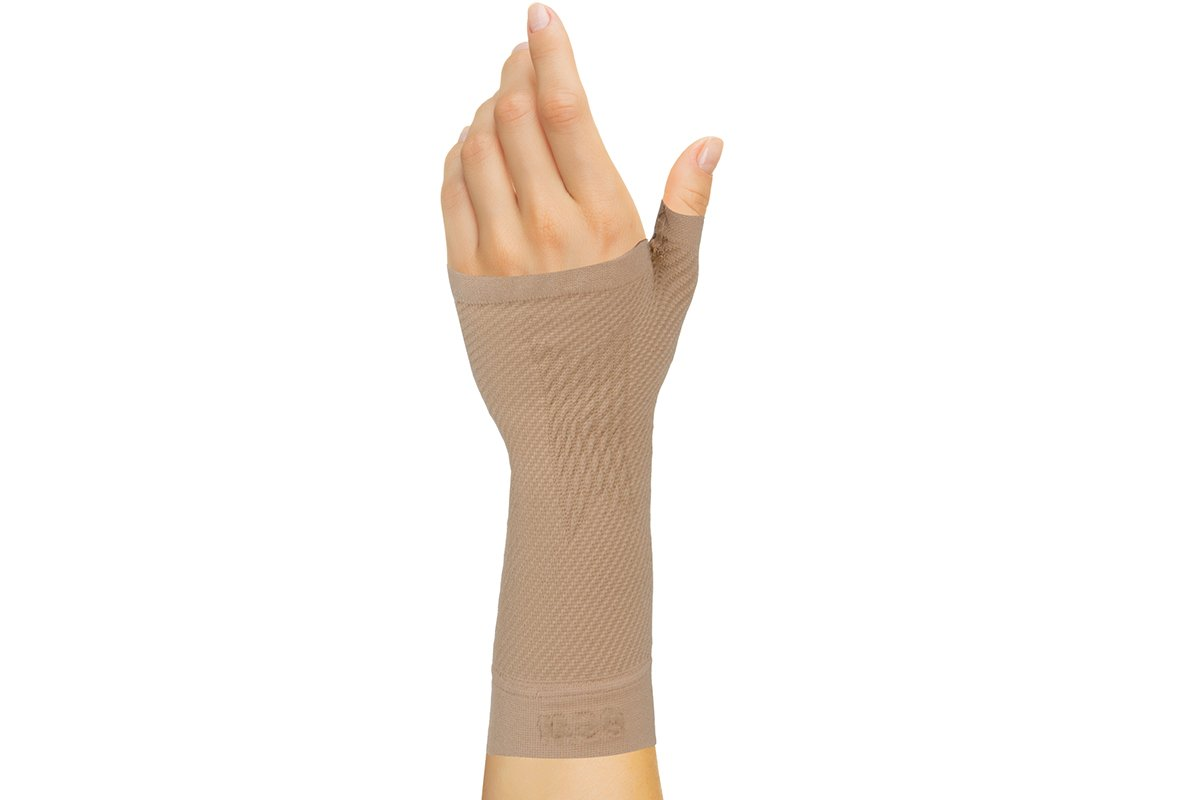 OrthoSleeve WS6 Sports Wrist Compression Sleeve (Natural, Medium)