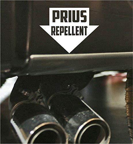Prius Repellent Funny Bumper Exhaust Sticker Vinyl Decal JDM Car Truck Window Decal (Funny Repellent)