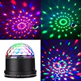 YMXING LED Stage Magic Ball Light Party Lights LED DJ Light Intelligent Voice RGB Rotating For KTV Xmas Party Wedding Home Show Club Pub Decor Disco DJ