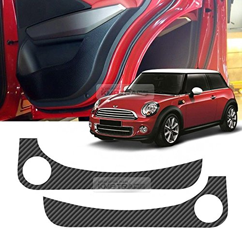 Carbon Door Protect Anti Scratch Cover Kick Fabric Decal Sticker Carbon Black For BMW MINI Cooper R56 2006 2007 2008 2009 2010 2011 2012 2013 - Out Car Get Scratches Of Way To Easy