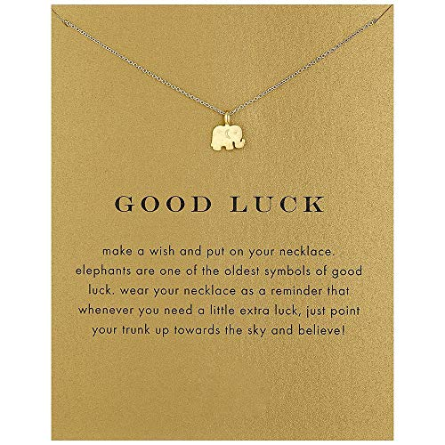 Geometric Necklace Friendship Good Luck Choker Collarbone Chain Triangle Elephant Sun Moon Chandelier Clavicle Necklace Bird Pendants Women Girls Birthday Gift Charms Jewelry Elephant Golden ()