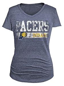 NBA Women's Tri Blend Short Sleeve V Neck