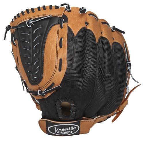 Louisville Slugger Gant de baseball/softball 30,5 cm - Gant droit Camel/noir - Beige/noir GENB1200