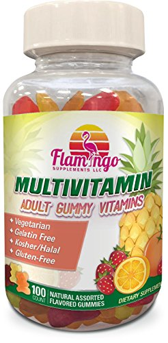 Multi-vitamin-Gummies-Vegetarian-Kosher-Halal-NO-gluten-or-gelatin-For-Men-Women-Kids-3-Natural-Flavors-Vitamins-A-C-B3-B12-Biotin-Zinc-More-100-Gummies