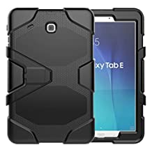 Galaxy Tab E 9.6 Heavy Duty Case, SM-T560 Shock Proof With Kickstand Built-in Screen Full- Body Protective Case for Samsung Galaxy Tab E T560 9.6 inches
