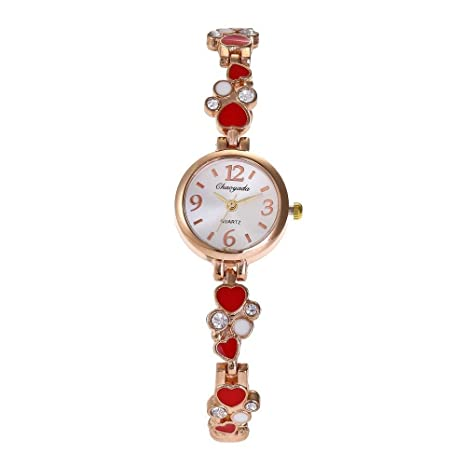 Sports Watches Relojes de Hombre Amor con Reloj de Diamantes ...