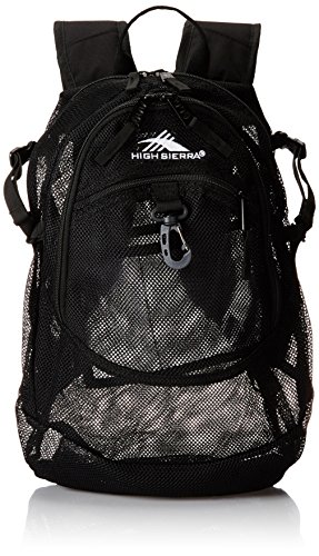 High Sierra Headphone - High Sierra Airhead Mesh Backpack, Black