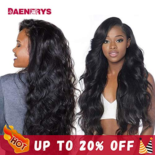 (360 Lace Frontal wigs Human Hair Wigs 20inch Pre Plucked Hairline with Baby Hair Body Wave Human Hair Lace Front Wigs Natural Color 150% Density)