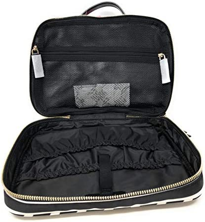 Kate Sapde New York Travel Cosmetic Make-Up Case Clutch Large Bag Black