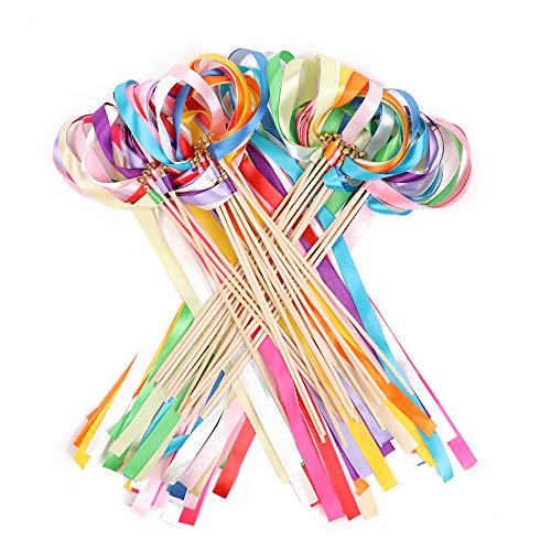 Streamer Wands - Ribbon Wands Mix Color Chromatic Silk