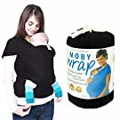 Baby Sling Carrier Natural Cotton Original Baby Wrap,for Babies From Birth to 50 Lbs -Fashion and Comfortable (1#black)