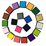 Craft Ink Pad, ArtCastle Stamp Pad Set, Kids, DIY, Rainbow, Finger Print, Washable (20 Colors)