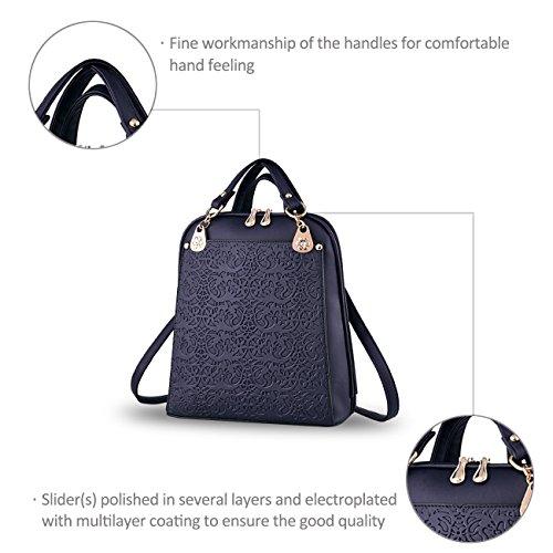 Nicole&Doris La bolsa de Nueva Boutique retro de la tendencia del hombro en relieve bolsa de viaje del bolso Azul Blue