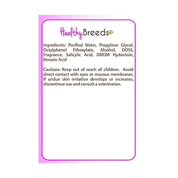 Healthy Breeds Dog Ear Wipes - Over 200 Breeds - Sweet Pea & Vanilla Scent - 70 Count 2
