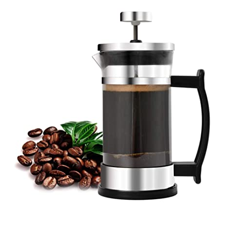 Amazon.com: Cafetera francesa de acero inoxidable y cristal ...