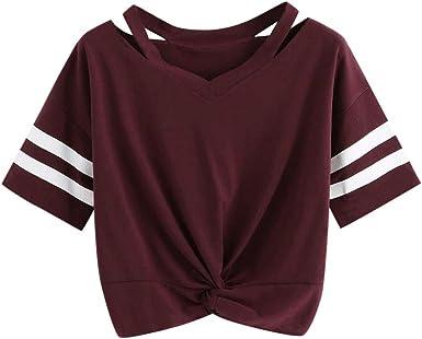 Camiseta de Mujer, Verano Slim Fit Manga Corta Impresión ...