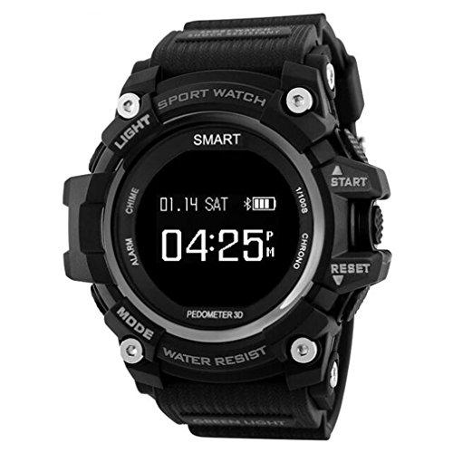 Smart Watch Men Waterproof IP68 Heart Rate Monitor Bluetooth 4.0 Outdoor Men Sport Watches Women IOS Android EX16 Sports Watch For Man (Black)