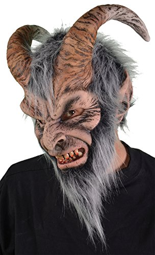 UHC Men's Horror Krampus Latex Mask Theme Party Halloween Costume Accessory
