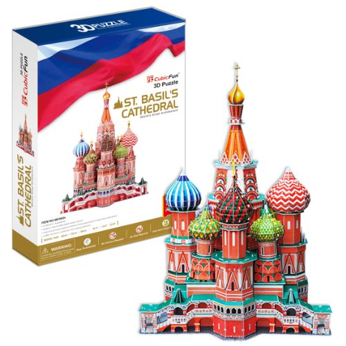 St. Basil's Cathedral - World Great Architecture - 173 Pieces BIG SIZE 3D Puzzle - Cubic Fun Series ()