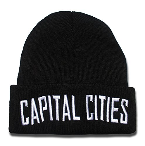 QIANGWEI Capital Cities Band Logo Beanie Fashion Unisex Embroidery Beanies Skullies Knitted Hats Skull Caps
