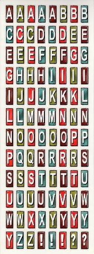 Trip Traditional Road American (Road Trip Alphabet Scrapbook Stickers (ST0341))