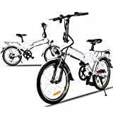 Cheesea Aluminum Alloy 250W 36V Frame Folding Electric Mountain Bike Cycling Bicycle White Review