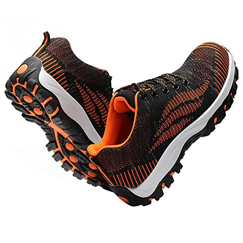 Shoes Safety Shoes Steel Optimal Men's Toe Work Shoes Orange Bright 0q5wUBw