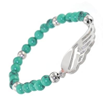 Acero inoxidable joyas: pequeña pulsera de perlas de con ...