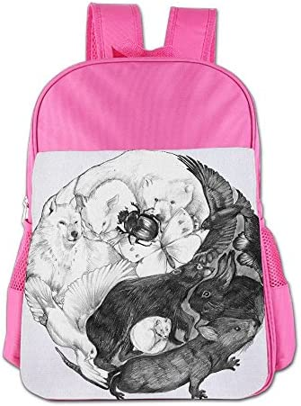 [해외]Yin Yang Animals School Backpack Children Shoulder Daypack Kid Lunch Tote Bags RoyalBlue / Yin Yang Animals School Backpack Children Shoulder Daypack Kid Lunch Tote Bags Pink