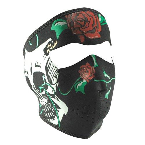 ZANheadgear Comedy/Tragedy Skulls Neoprene Face Mask (Black/Red)