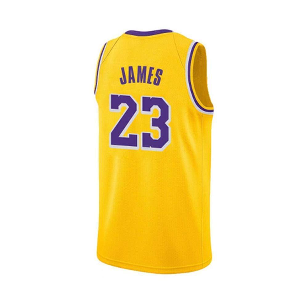 Hombres Uniforme De Baloncesto Amarillo Jersey NBA Los Angeles ...