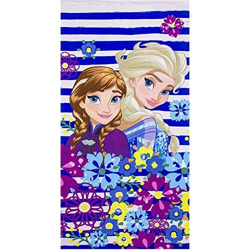 Disney Frozen Princess Elsa and Anna Kids Beach Towel 70 X 140 cm (Stripes) ()