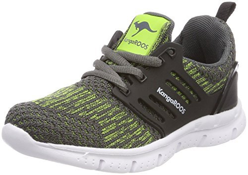 KangaROOS Draga Kids, Zapatillas Unisex Niños Grau (Steel Grey/Lime)