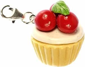 Miniblings Magdalena del Mollete Encanto Tartas Tarta de Cerezas de Kawaii roja