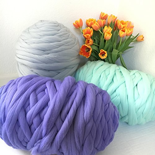 Wool Baby Pure Natura (Chunky Merino Wool Yarn for Arm Knitting - More than 100 colors - Оrder Starting From One Pound - Choose Your Color and Weight)