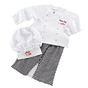 Baby Toddler Fancy Dress Chef Cook Outfit Halloween Costume Birthday Party Sets 6-12Monthes White