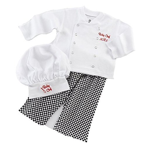 Baby Toddler Fancy Dress Chef Cook Outfit Halloween Costume Birthday Party Sets 12-18Monthes White -