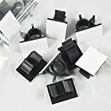 Viaky 30 Pcs Black Clips Self Adhesive Backed Nylon Wire Adjustable Cable Clips Adhesive Cable Management Drop Wire Holder