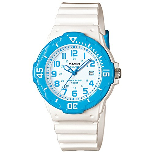 Casio Women's LRW200H-2BV White Resin Quartz Watch with White Dial