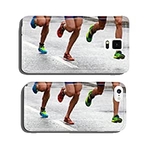 Running colorful feet and legs cell phone cover case Samsung S6