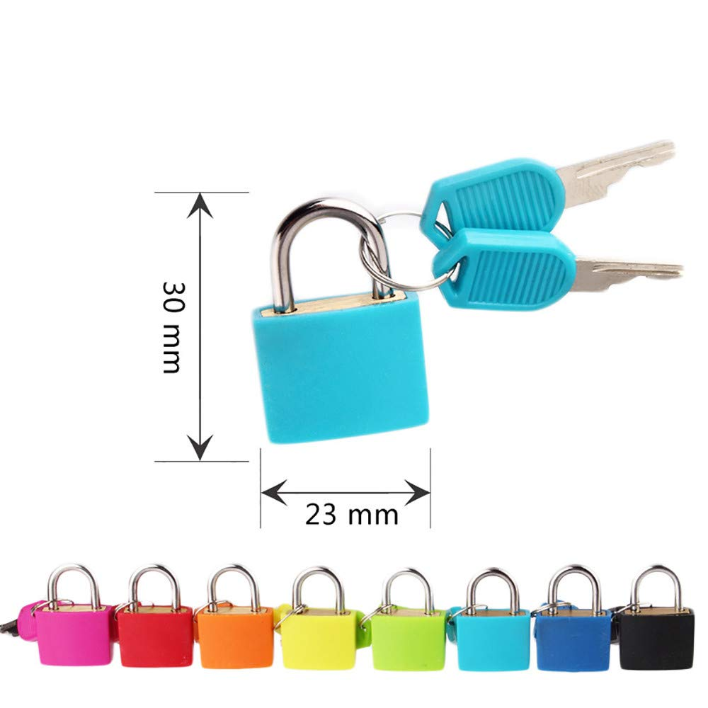 Lljin Small Mini Strong Steel Padlock Travel Suitcase Diary Lock With 2 Keys (F)